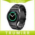 Часы из нержавеющей Стали Группа 3 Указатель Ремешок для Samsung Gear S2 SM-R720/R730 Застежка Пояса Браслет Черный Розовое Золото Серебро