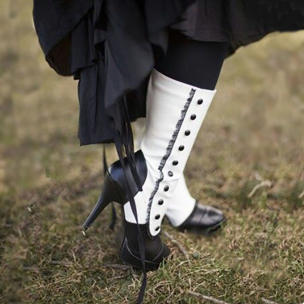 Round Toe Thin Heels Women Cowboy Boots Mid-Calf Super High   Gothic Long Boots  Sexy Concise + Winter Shoes