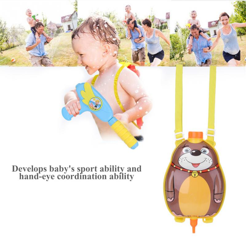 Cartoon Animal Water Gun toy Backpack Children Long Range Beach Play Toy Swimwing Pool Outdoor Toys summer gifts for baby