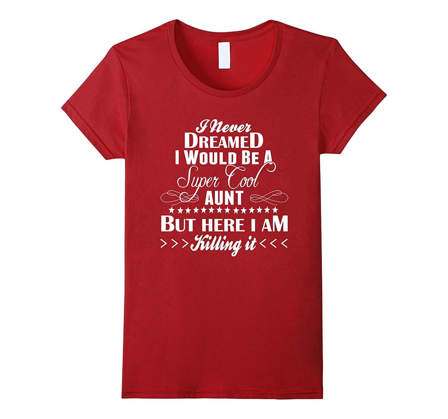 Gildan Womens Super Cool Aunt T-Shirt Coolest Auntie Around Tee Branded Lady Casual Tees Crew Neck T Shirts