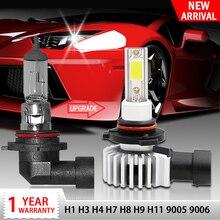 Racbox Car Headlight Bulb LED H7 H1 H3 H4 H11 H8 H27 880 881 COB Chip Mini Auto Turbo Super Lamp 3000K 6000K 10000K Hb4 Hb3 9005 9006 free shipping h1 h3 h7 h8 h11 9005 hb3 9006 hb4 880 881 v16 30w 3600lm c led headlight fog bulb daytime running lamp 6000k