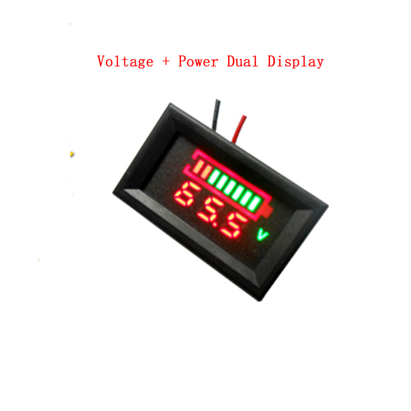 12V 24V 48V 60V Lead-acid Lithium Battery Capacity Indicator Module Red Blue Power Voltage Dual Display LED Voltmeter Tester td05 factory direct sales 12v24v36v48v lead acid battery capacity display professional capacity indicator