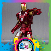 CMT Origianl Bandai Marvel Conice Iron Man Mark 7 Hall of Armor Action Figure