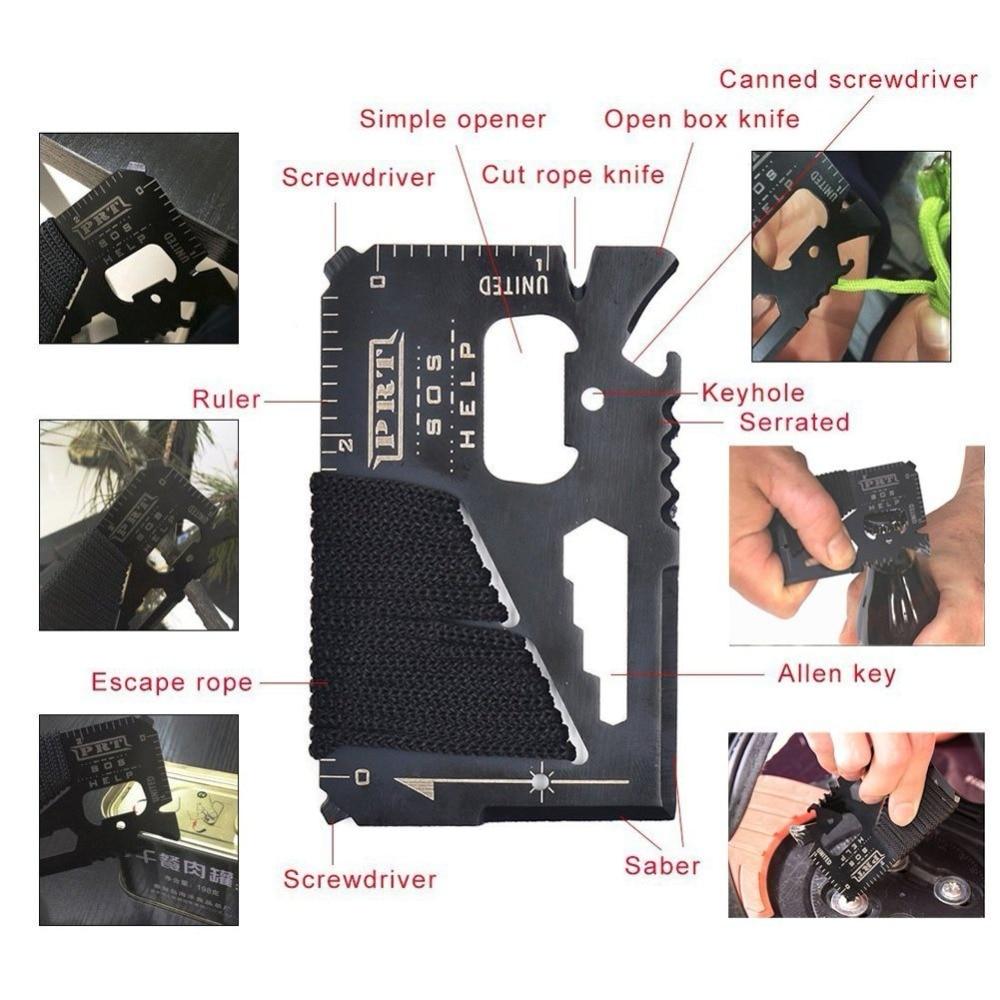 Survival kit set survive wristband pen edc tool backpack survival gadgets (24)