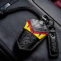 Skórzana Car Key Case Breloczków Torba Pokrywa Dla Volvo Porsche BMW Audi Mercedes Volkswagen VW TOYOTA Buick Honda Buick