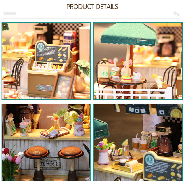 Toys For Children Girls Doll House Miniature DIY Dollhouse With Furnitures Wooden House Waiting Time Kids Birthday Gift C006