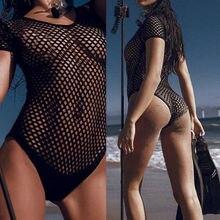Сексуальный женский цельный сетчатый полый купальник, купальник с пуш-ап, монокини, купальный костюм, бикини