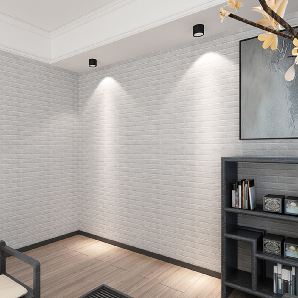 Wall tile buy cheap stone wall tile lots from china stone wall tile - New Pe Foam 3d Diy Stone Brick Self Adhesive Wall Stickers Home Decor 5 Color