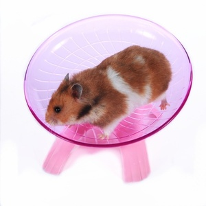 Pet Hamster Flying Saucer Exercise Wheel Hamster Mouse Running Disc Toy Cage Accessories(China)