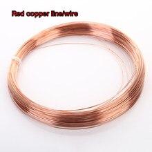 Diâmetro 0.2/0.3/0.4/0.5/0.6/0.8/, 5 m/2m/1m/1/1.2/1.5/1.8/2/2. linha de cobre t2 5/3/4/5mm, fio de cobre vermelho natural 99.90%
