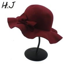 Модная осенне-зимняя шерстяная детская мягкая фетровая шляпа для девочек, фетровая Кепка-котелок, шляпа от солнца с цветочным принтом