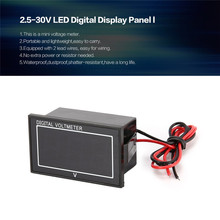 DC 2.5-30V 2-Wire LED Digital Display Panel Voltmeter Electric Voltage Meter Volt Tester For Car Motorcycle and Battery Cart(China)