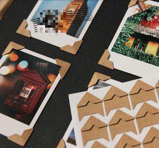 (72pcs/Set) Kraft Paper Corner Stickers Scrapbooking Stationery Set Diary Sticker Scrapbook School Supplies