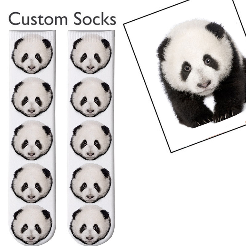 3D Printed Personalized Custom Socks Women Long Socks Custom Men's Sport Socks Personalized Knee Socks Custom Gifts