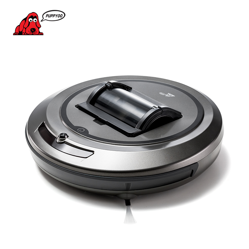 PUPPYOO Robotic Vacuum Cleaner Intelligent Multifunctional Collector Self Charge And High Suction Power Side Brushes WP615