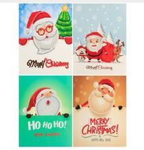 Christmas Cartoon Greeting Card Diamond Painting  Diamond Embroidery Christmas Paper Greeting Card Birthday Crafts 5D Diy Kids p dyson prelude for organ greeting on christmas morning