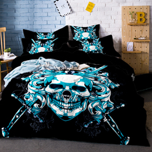 3D Printed Skull Bedding Set King Size Sugar Print Duvet Cover with Pillowcase AU Queen Bed Best Gift Bedline