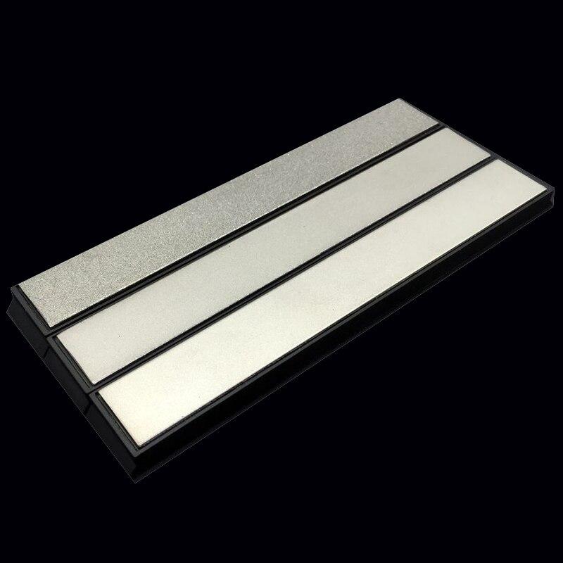 3Pcs 240/600/1000# Pro Knife Sharpener Diamond Sharpening Stone Whetstone Grinder Grindstone Apex edge sharpener whetstone