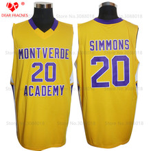 cc0dcd20cce Top Ben Simmons Jerseys  20 Montverde Academy Eagles HS Mens Cheap Throwback  Basketball Jersey Stitched yellow Vintage Shirts