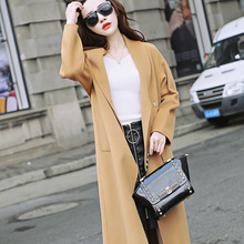 Manufacturers Selling New Winter Long Double face woolen Female Knee length Coat(China)