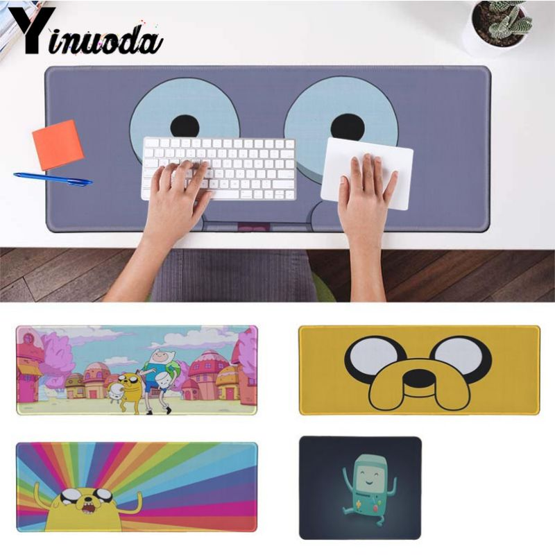 Yinuoda Hot Sales adventure time DIY Design Pattern Game mousepad Size for 18x22cm 20x25cm 25x29cm 30x90cm 40x90cm ...