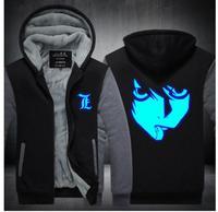 Ryuk Ryuuku New Hot Death Note Deathnote Zipper Thicken Fleece Cosplay Costume Hoodie Jacket Unisex Sweater