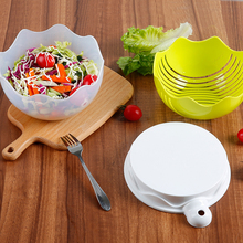 Kitchen Fruit Salad Cutting Bowl Convenient Mix Artifact Plastic With Lid Vegetable Pot Thick Cut Divider