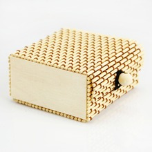 Hot Selling True Color Bamboo jewelry box necklace Case accessories Classic vintage