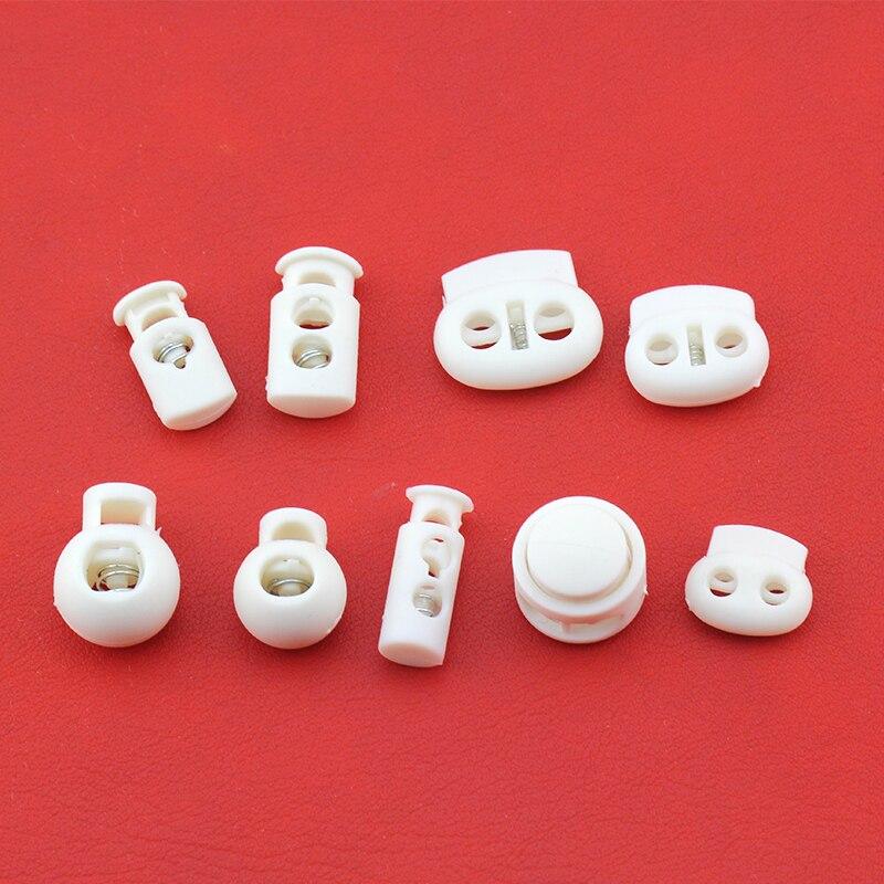 Пластиковая Пружинная Застежка с белым шнуром, 10 шт.|Стоппер| | АлиЭкспресс