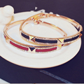Black Red Luxury Rhinestones Bracelets for Women pulseiras para as mulheres Bijoux Jewelry