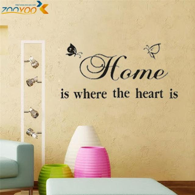 home is where the heart is quote wall decals zooyoo8007 diy adesivo ...