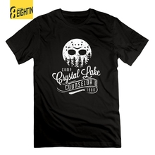 82133068c50f Camp Crystal Lake Counselor Friday the 13th Horror Vintage T-Shirts 100%  Cotton Men s
