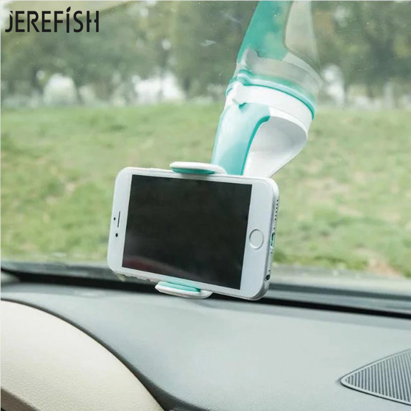 JEREFISH Universal Car Windshield Dashboard Magnetic Mobile Phone Holder Stand Strong Suction Mount Holder for Smartphone GPS