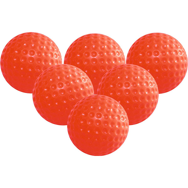6pcs Soft Elastic Indoor Practice Golf Balls Training Golf Balls (Red)