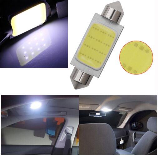Кристалл синий белый 12 фишек УДАРА C5W Авто купольная гирлянда для интерьера светодио дный свет лампы карта Крыша лампы для чтения DC12V 31/36/39/42 ...