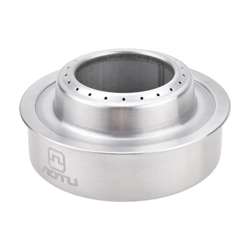 AOTU Mini Portable Solid Liquid Alcohol Stove Furnace For Outdoor Hiking Camping Windproof Gas Stove Picnic Cooker Cookware