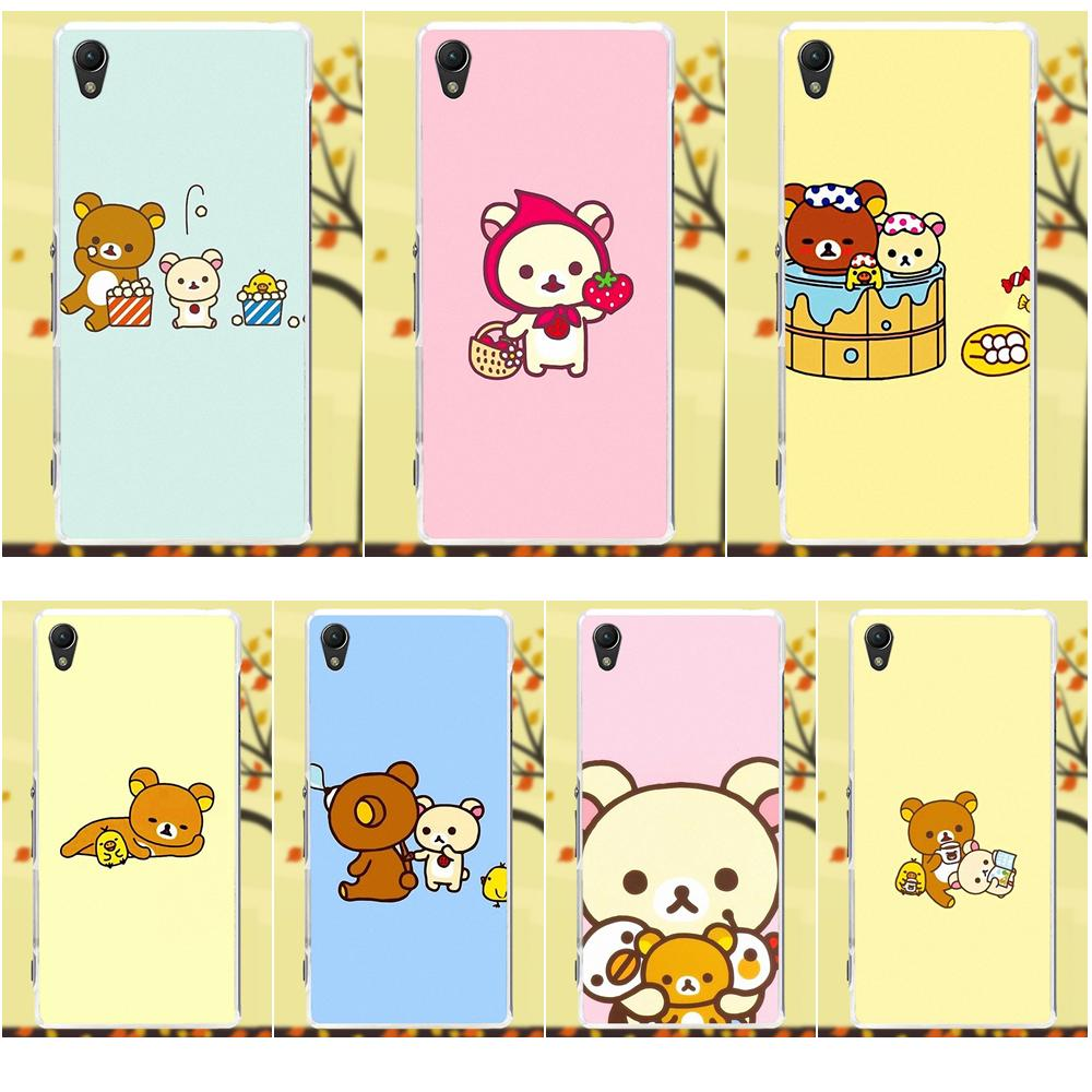 Lovely Rilakkuma Second Series For Sony Xperia Z Z1 Z2 Z3 Z4 Z5 Compact Seken Mini M2 M4 M5 T3 E3 Xa Soft Tpu Protector Phone Cases In Half Wrapped Case From