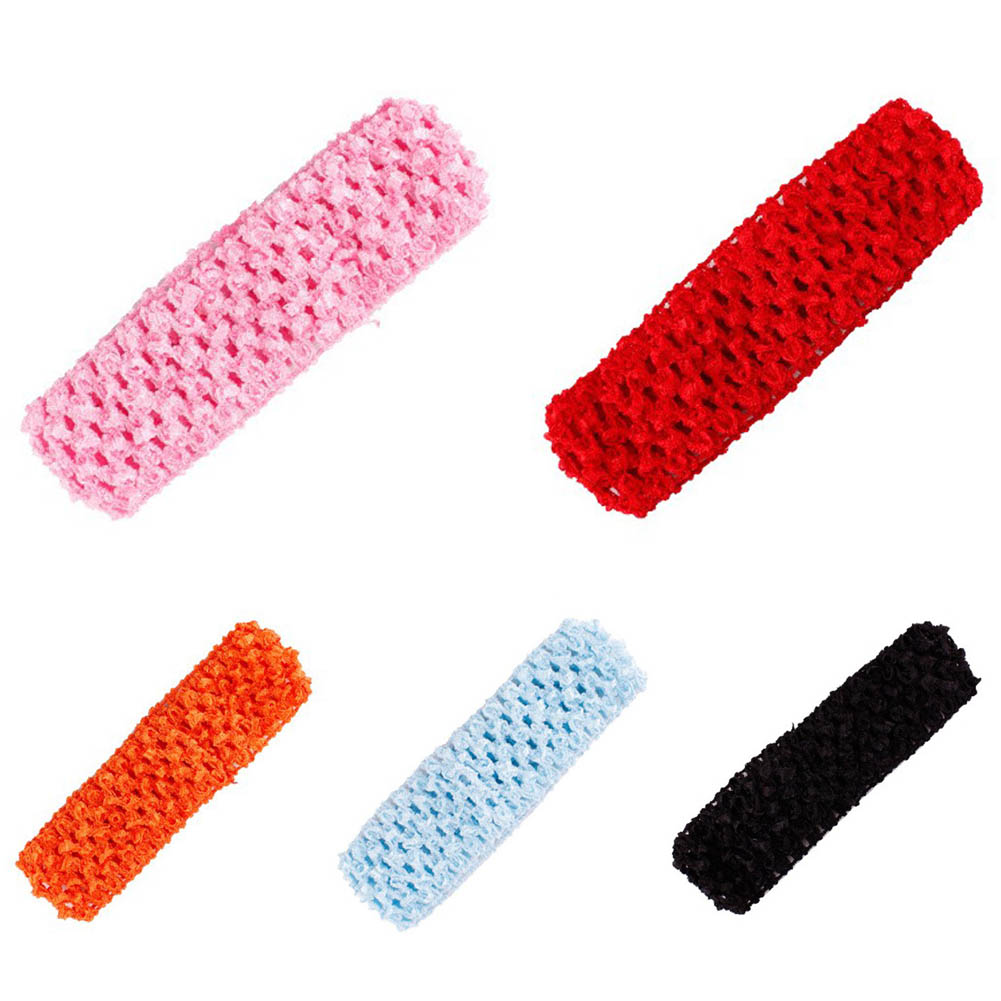 1PC Crochet Head Band For Hairbands Hair Accessories Crochet Elastic Headband Crochet Bands Diy Headwear bebe girls flower headband four felt rose flowers head band elastic hairbands rainbow headwear hair accessories