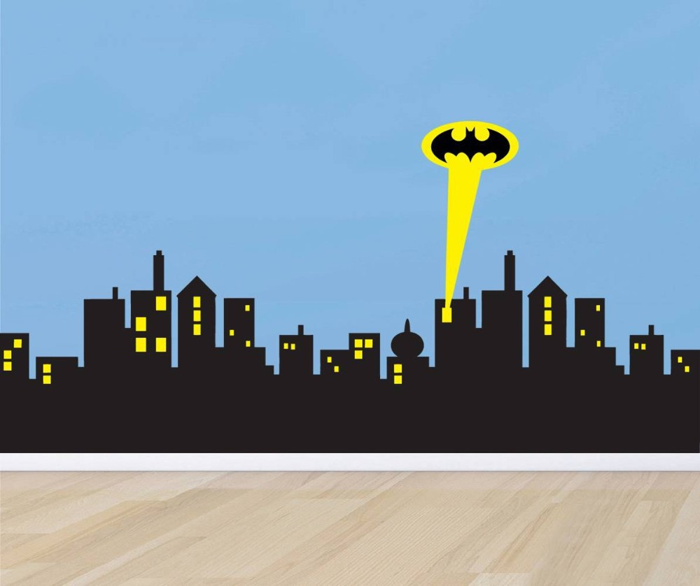 Aliexpress.com : Buy Removable Wall Sticker GOTHAM Modern CITY SKYLINE  Batman Decal Removable WALL STICKER Home Decor Art From Reliable Decoration  Sticker ... Part 69