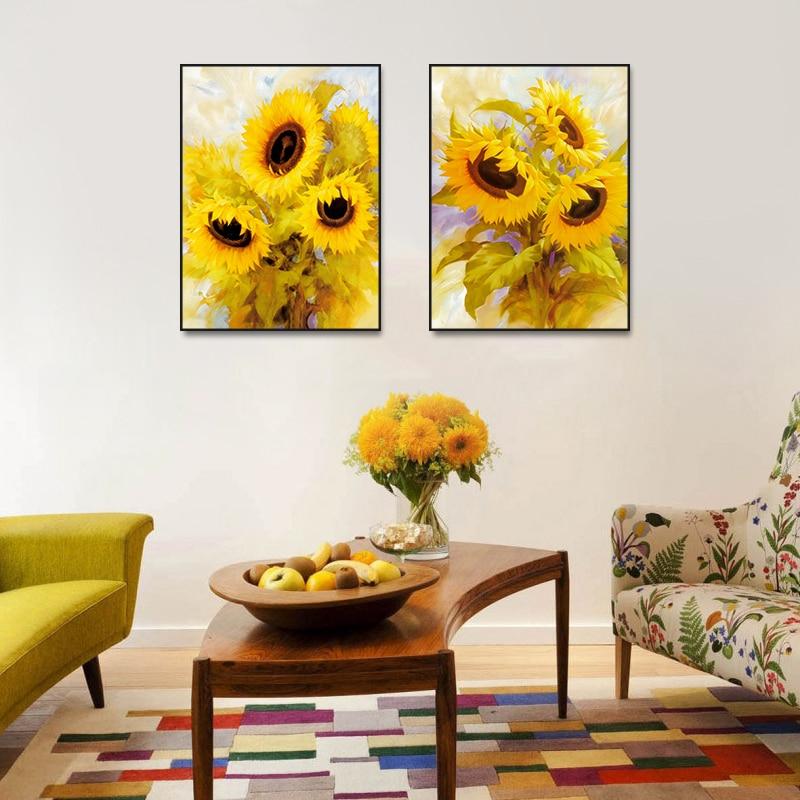 Sunflower simple modern decorative painting living room ...