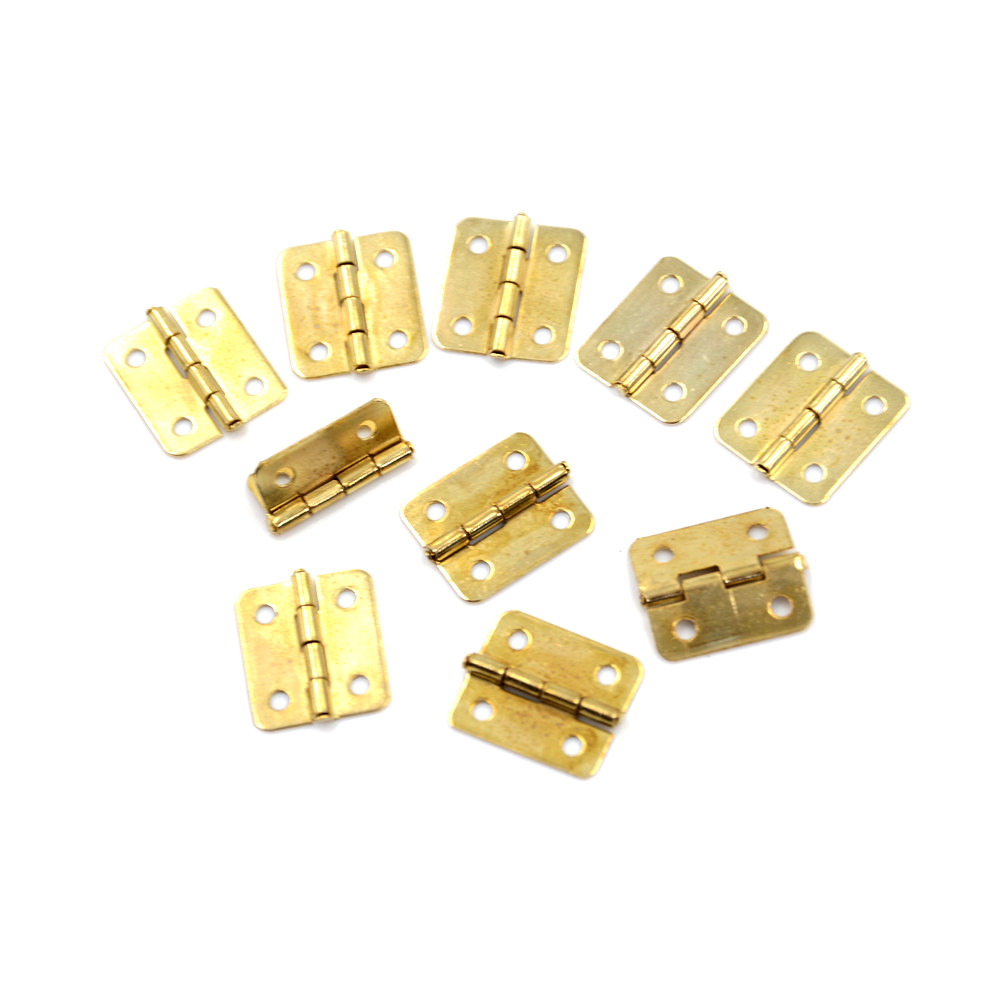 10pcs KAK 16mm X18mm Bronze Gold Silver Mini Butterfly Door Hinges Cabinet  Drawer Jewelry Box Hinge For Furniture Hardware