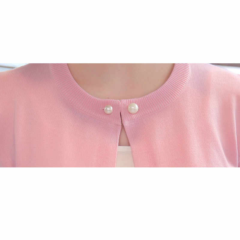 2019 Primavera Outono Camisola Cardigan Protetor Solar Xale Fino Casaco Camisola Menina do Verão Jaqueta Curta de Manga Comprida Knit Tops Quentes L71