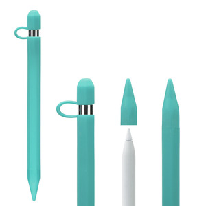 Funda de silicona suave para lápiz Apple IPencil, soporte de cubierta para tableta, bolígrafo táctil, Stylus 360, bolsa protectora completa, bolsos, accesorios