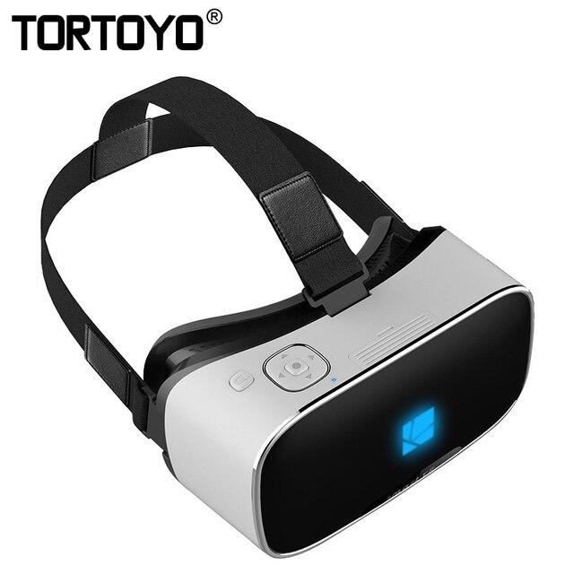 "Smart All in One VR Glasses Virtual Reality Rockchip RK3288 2+16GB 5.5"" 2K FHD Screen BT WIFI 3D Movie Game Helmet TF Card HDMI"