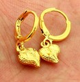Free Shipping Hot 2015 24k gold plated earring love stud pendientes to.us bear bijoux femme YHDE011