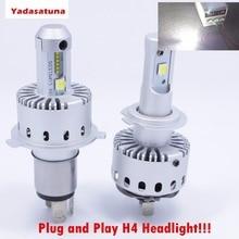Plug/Play H4 HB2 9003 Oi/Lo LEVOU Kit Farol Do Carro 7 S 80 W 16000LM 6500 K Farol de Iluminação Automotiva Com Zes + Cree XHP-50 fichas