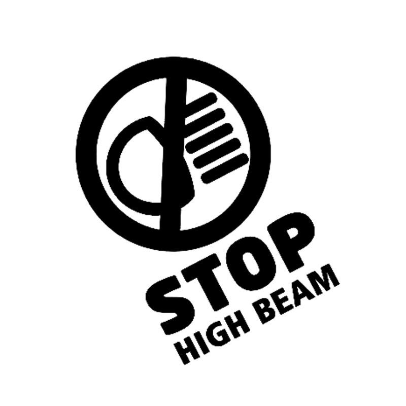 10CM11 7CM Stop High Beam Warning Graphic Auto Motorcycle SUVs Bumper Car Sticker Vinyl Decoration in Car Stickers from Automobiles Motorcycles