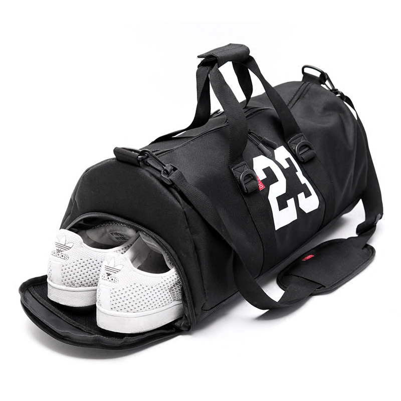 1f0f6c8b529 Gym Duffle Tote Bag -Fitness Barrel Travel Sports Bag for Women and Men  Small Gym Bag with Shoes Compartment