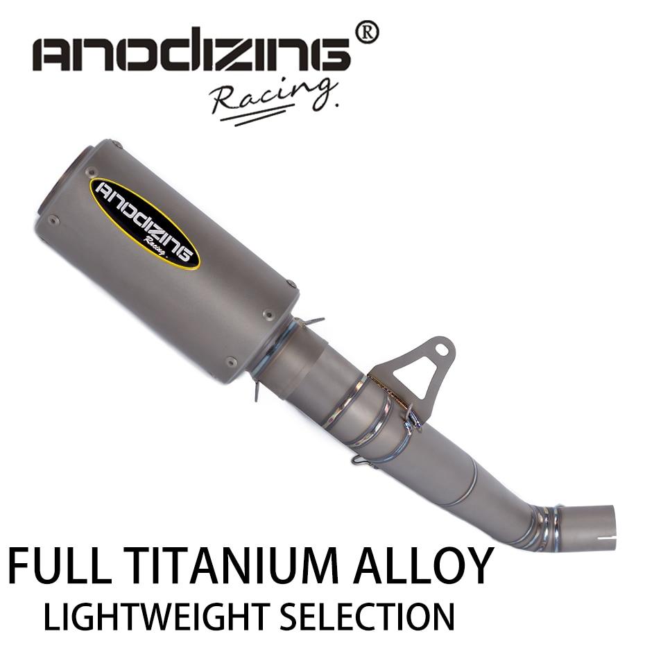 61mm Titanium Alloy Slip On Motorcycle Exhaust Pipe Middle Link Pipe Titanium Alloy Muffler For HONDA CBR1000RR 2008-2016 цена