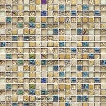 Mosaico de cristal colorido M08 para cocina, azulejo para salpicaduras, baño, ducha, pasillo, pared, mosaico, envío gratis